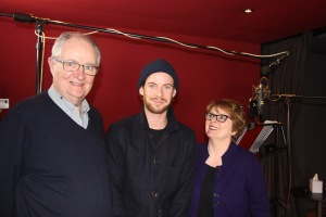 Jim Broadbent, Luke Treadaway, Brenda Blethyn, at the voice recordings for Ethel and Ernest, March 2015