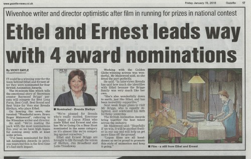 Colchester Gazette_19th Jan 2018_Ethel and Ernest BAA nominations.jpg